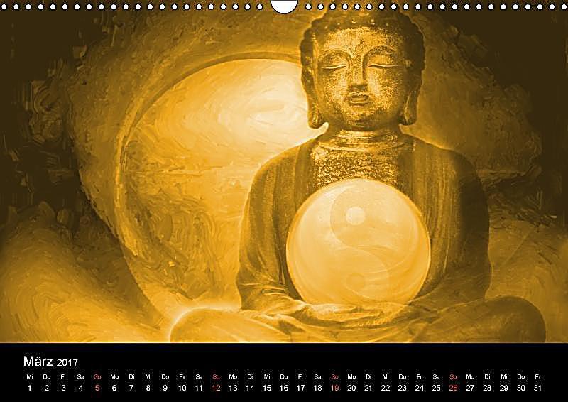 Buddha und yin yang wandkalender 2017 din a3 quer for Buddha bestellen