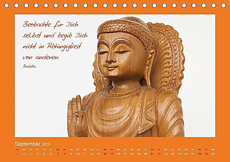 Buddha zitate tischkalender 2019 din a5 quer kalender for Buddha bestellen
