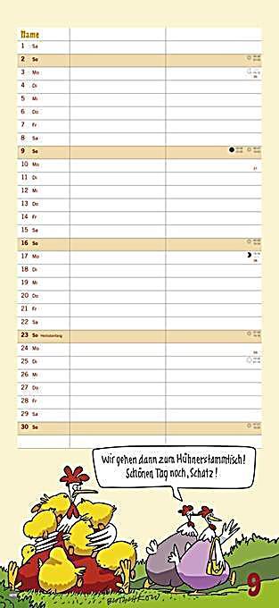 butschkow das gelbe vom ei planer f r zwei 2018 kalender. Black Bedroom Furniture Sets. Home Design Ideas