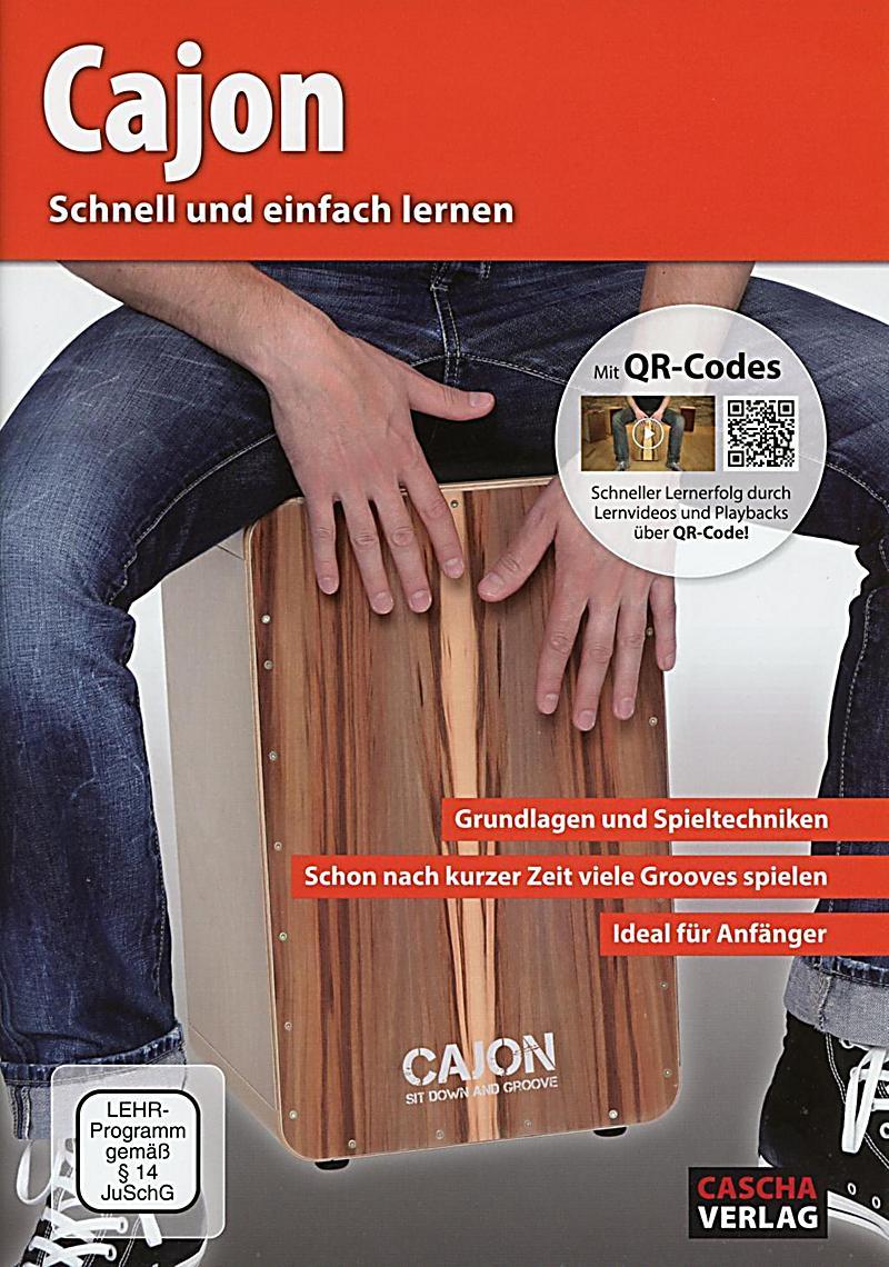 cajon schnell und einfach lernen lehrbuch audio cd. Black Bedroom Furniture Sets. Home Design Ideas