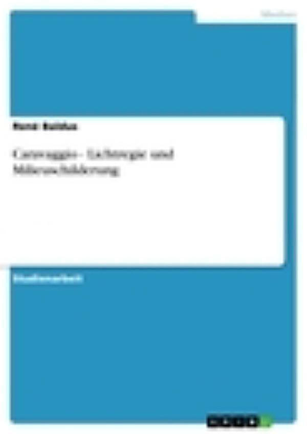 Caravaggio lichtregie und milieuschilderung ebook for Tragwerkslehre pdf