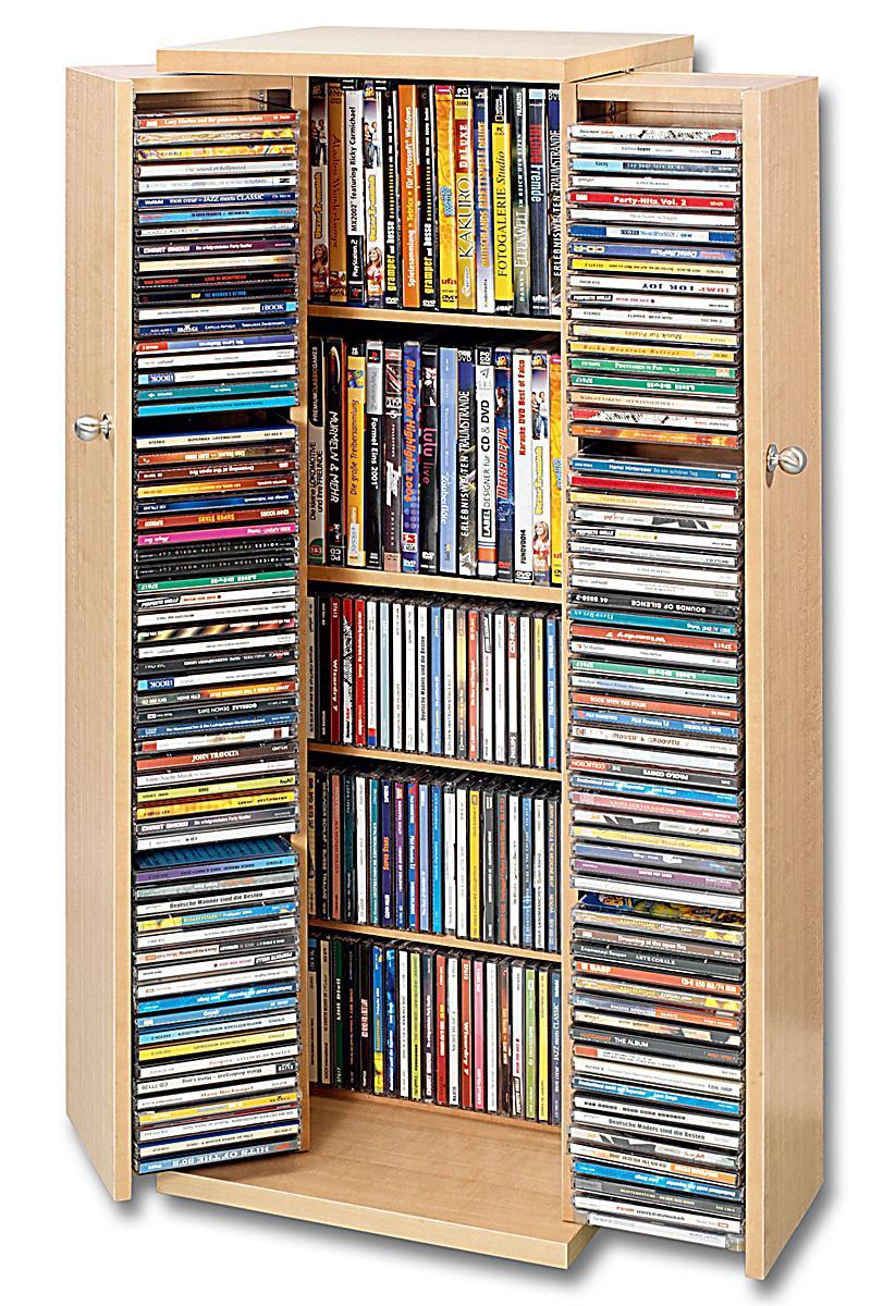 cd schrank f r 296 cds farbe eiche bestellen. Black Bedroom Furniture Sets. Home Design Ideas