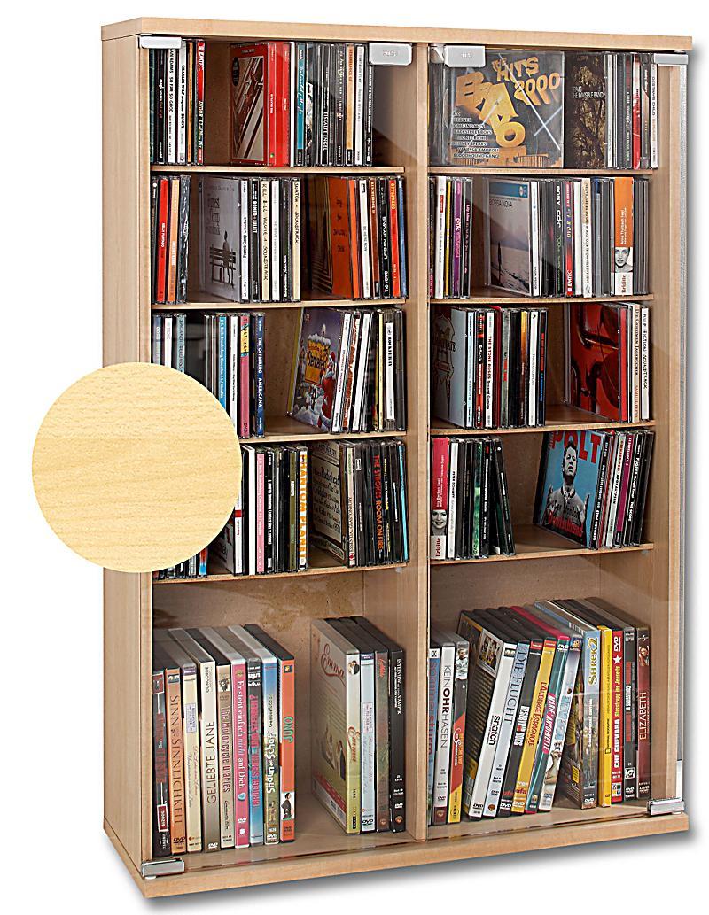 CD-Schrank für 300 CDs, Ahorn jetzt bei Weltbild.de bestellen
