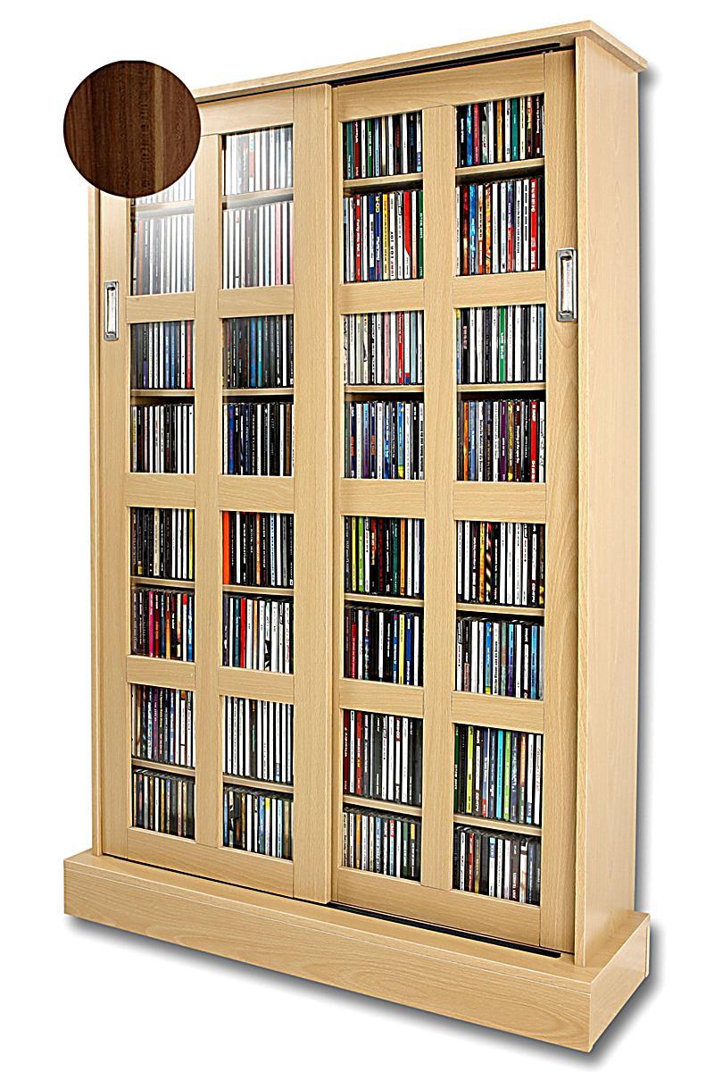 cd schrank xl farbe nussbaum jetzt bei bestellen. Black Bedroom Furniture Sets. Home Design Ideas