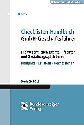 checklisten handbuch gmbh gesch ftsf hrer m cd rom. Black Bedroom Furniture Sets. Home Design Ideas