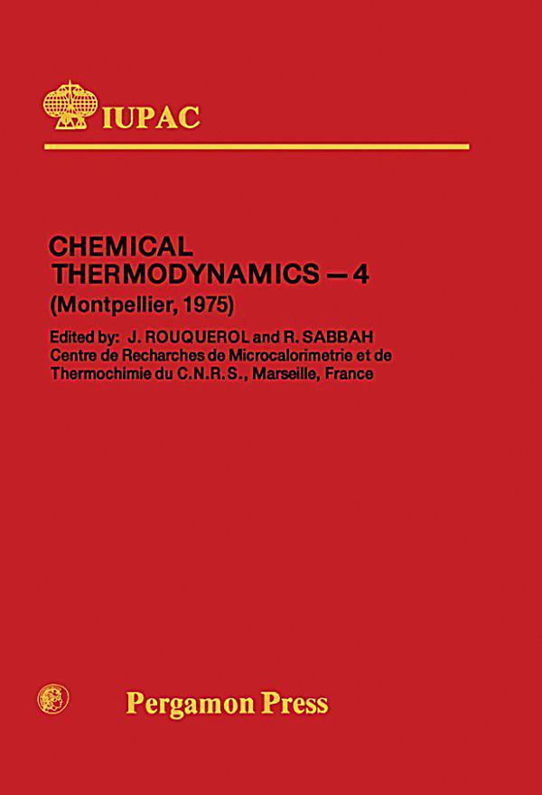 Chemical Thermodynamics - PDF Free Download