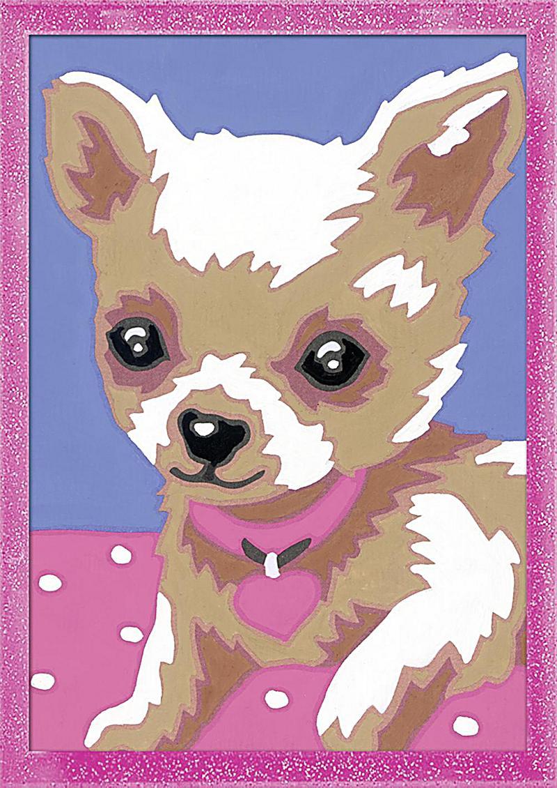 Chihuahua. Malen nach Zahlen Serie F Glitter   Weltbild.de