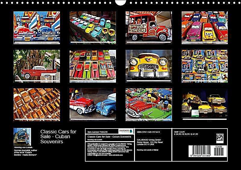Calendar For Sale : Classic cars for sale wall calendar din a landscape