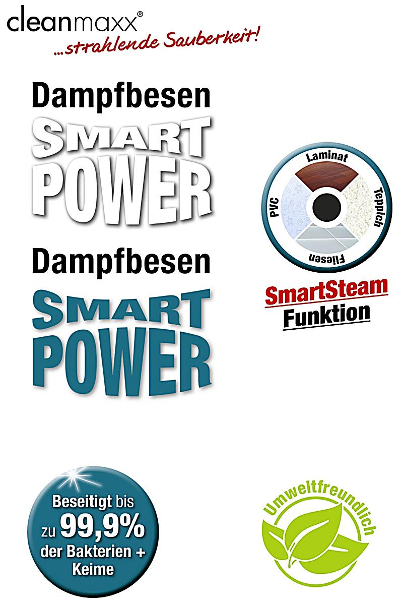 clean maxx dampfbesen smart power petrol mit 4 boden. Black Bedroom Furniture Sets. Home Design Ideas