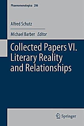 Collected Papers Vi Literary Reality And Relationships Buch