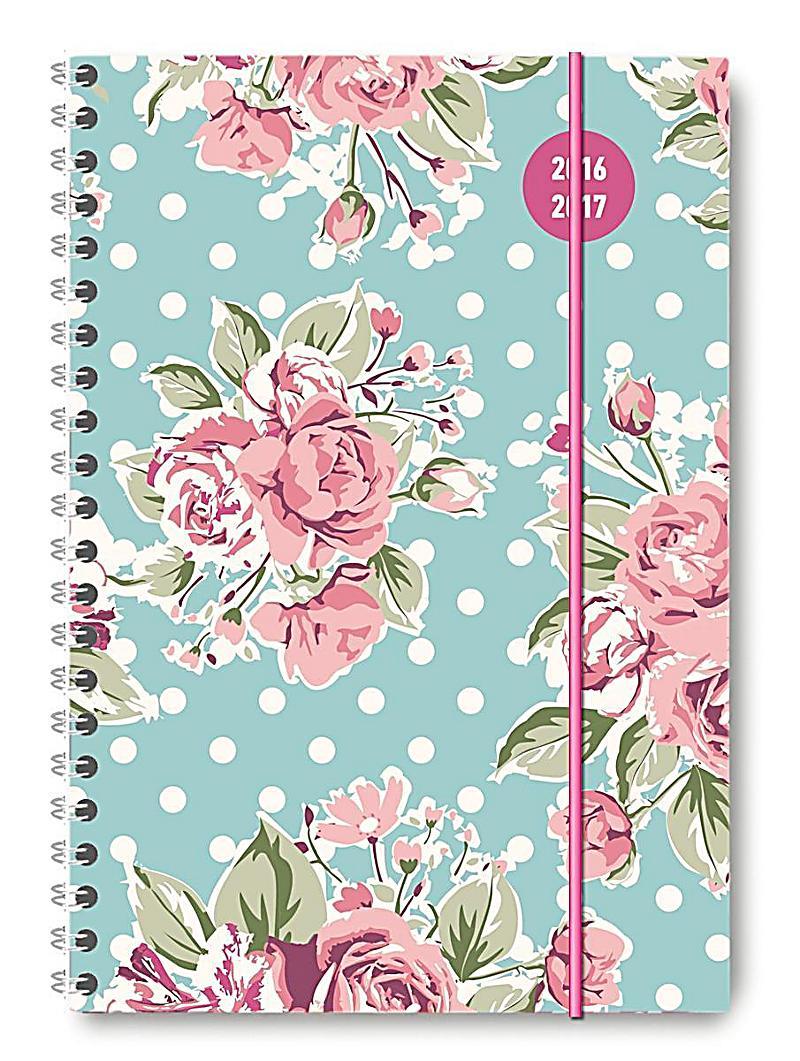 collegetimer a5 roses 2016 2017 ringbuch kalender bestellen. Black Bedroom Furniture Sets. Home Design Ideas