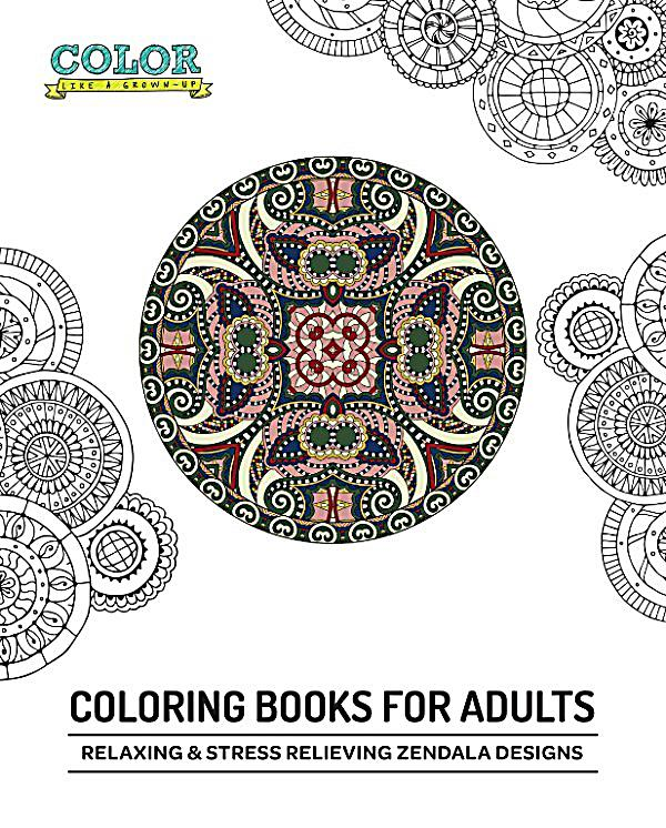 Coloring books for adults relaxing stress relieving Relaxing coloring books for adults