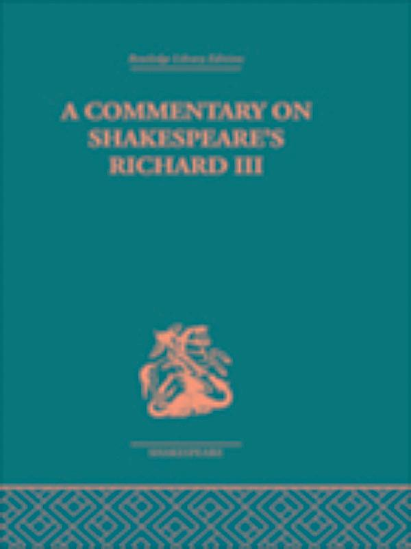 an analysis of soliloquies in the play richard iii Who's who in shakespeare's history plays so here's the family tree for william shakespeare's richard ii, henry iv, henry v, henry vi, richard iii, and henry viii kings are in bold who rules for a long time) the play ends with the birth of elizabeth and a prophesy about.