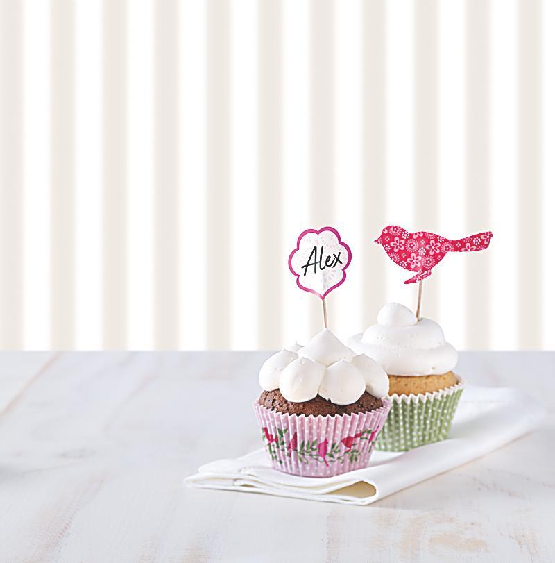 cupcake deko set vogel jetzt bei bestellen. Black Bedroom Furniture Sets. Home Design Ideas