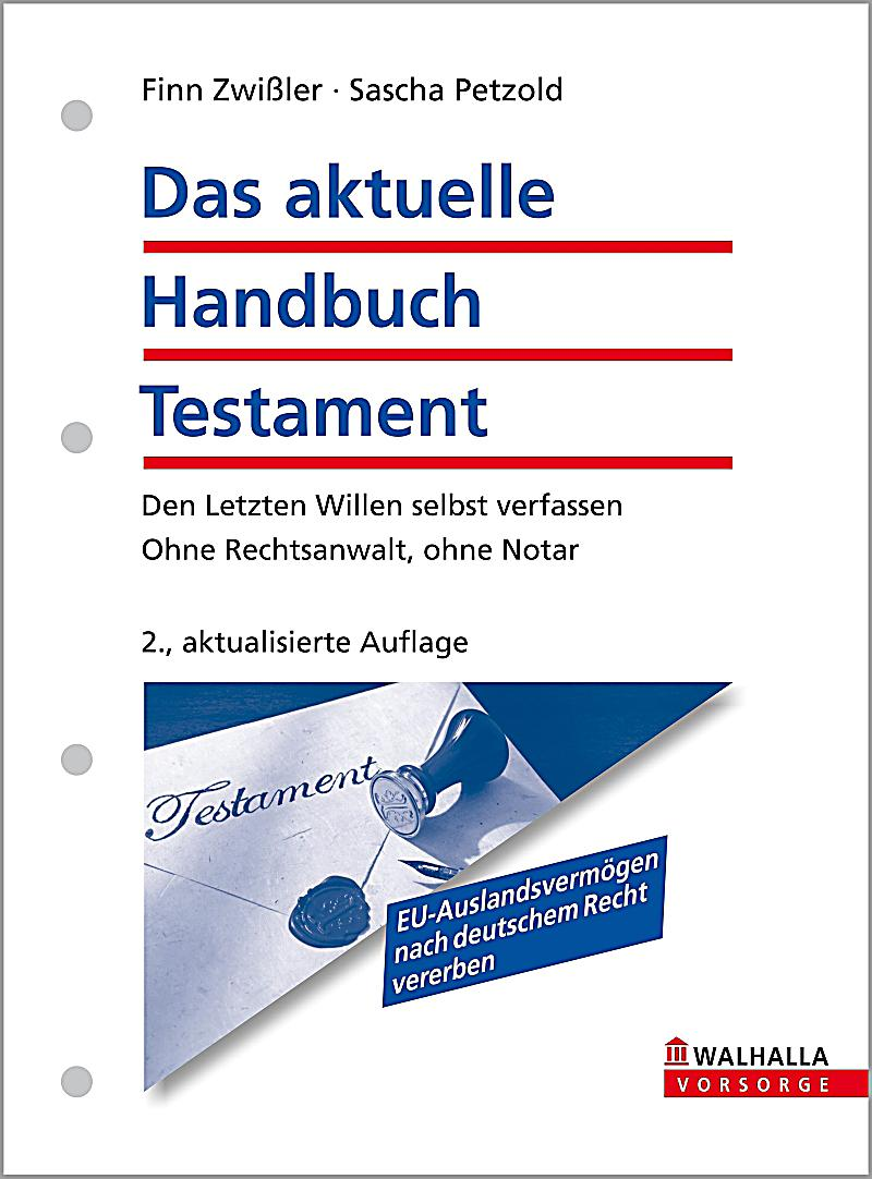 das aktuelle handbuch testament ebook jetzt bei. Black Bedroom Furniture Sets. Home Design Ideas