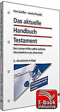 das aktuelle handbuch testament buch portofrei bei. Black Bedroom Furniture Sets. Home Design Ideas