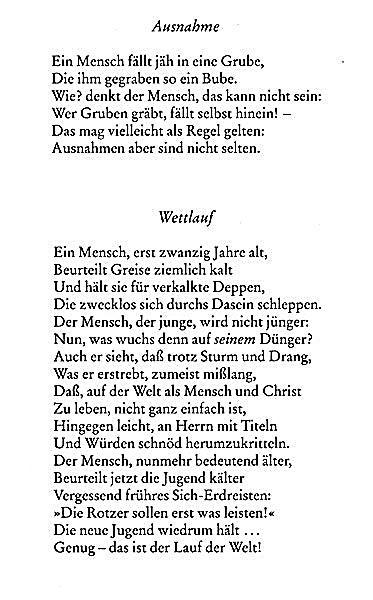 Eugen roth gedicht bucher
