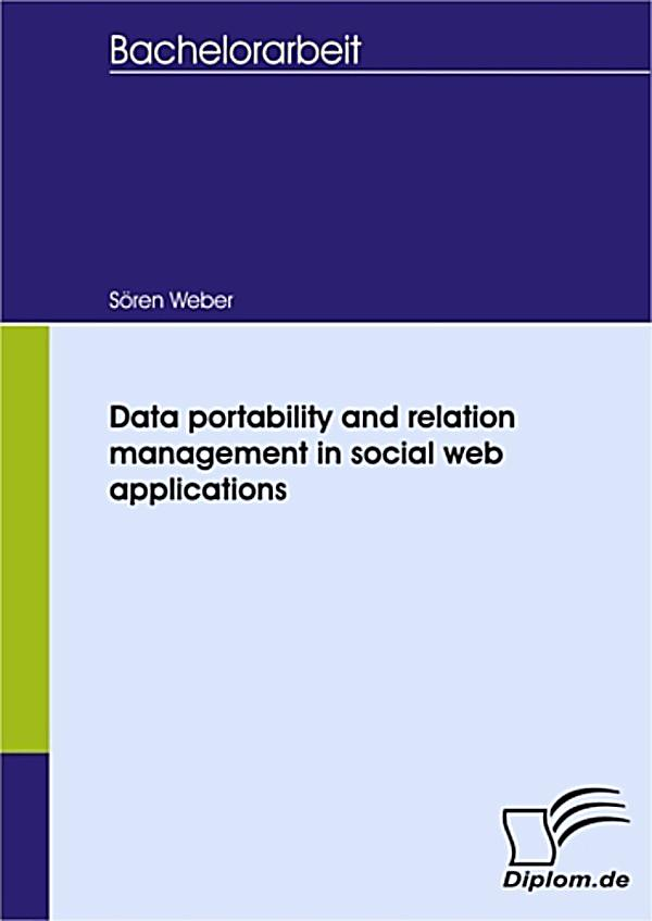 Data portability and relation management in social web appli