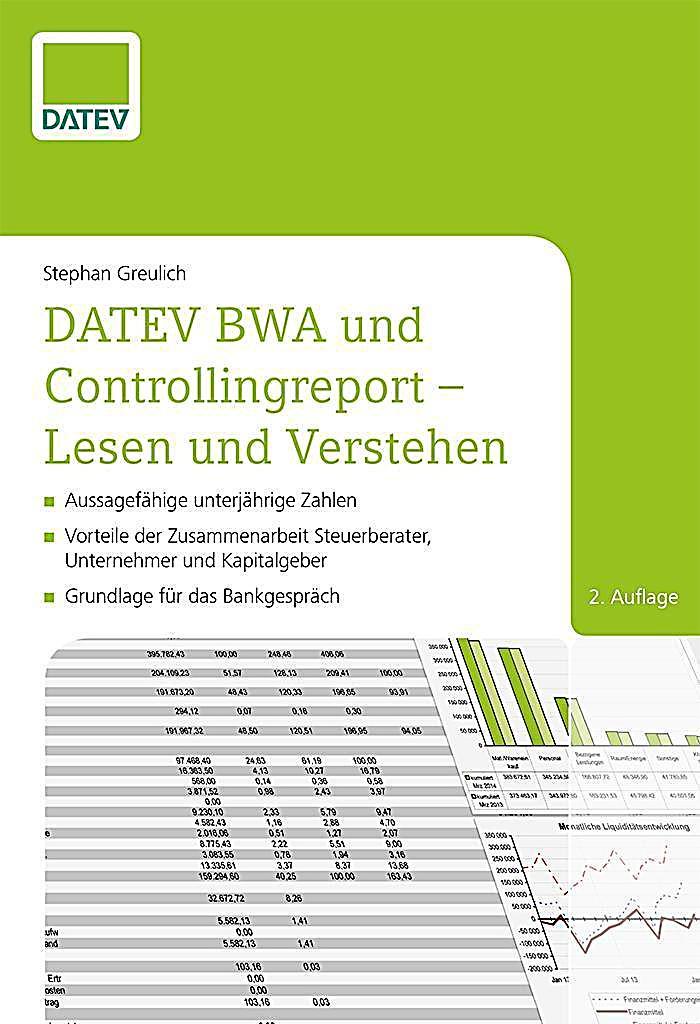 datev bwa und controllingreport lesen und verstehen buch kaufen. Black Bedroom Furniture Sets. Home Design Ideas