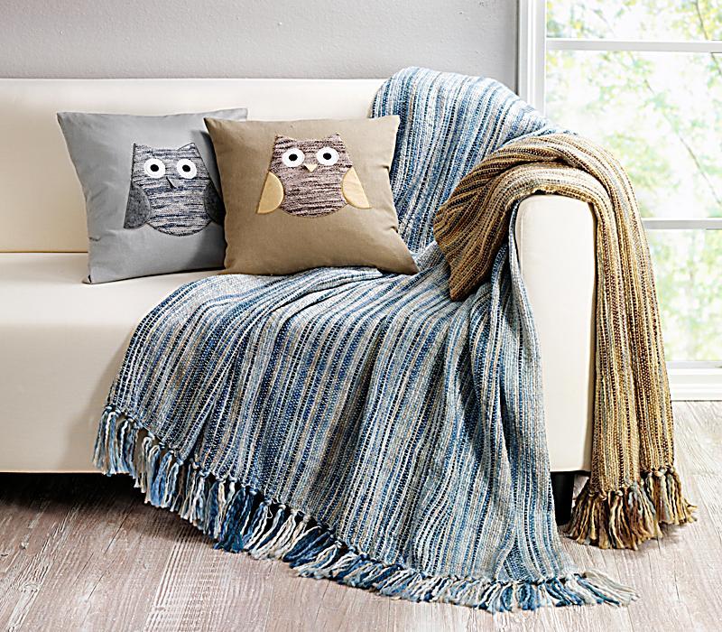decke mit fransen braun jetzt bei bestellen. Black Bedroom Furniture Sets. Home Design Ideas