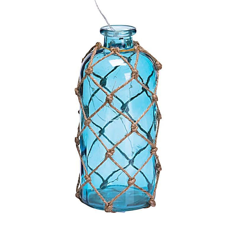 Deko-Flasche mit LED- Lichterkette Net groß | Weltbild.de