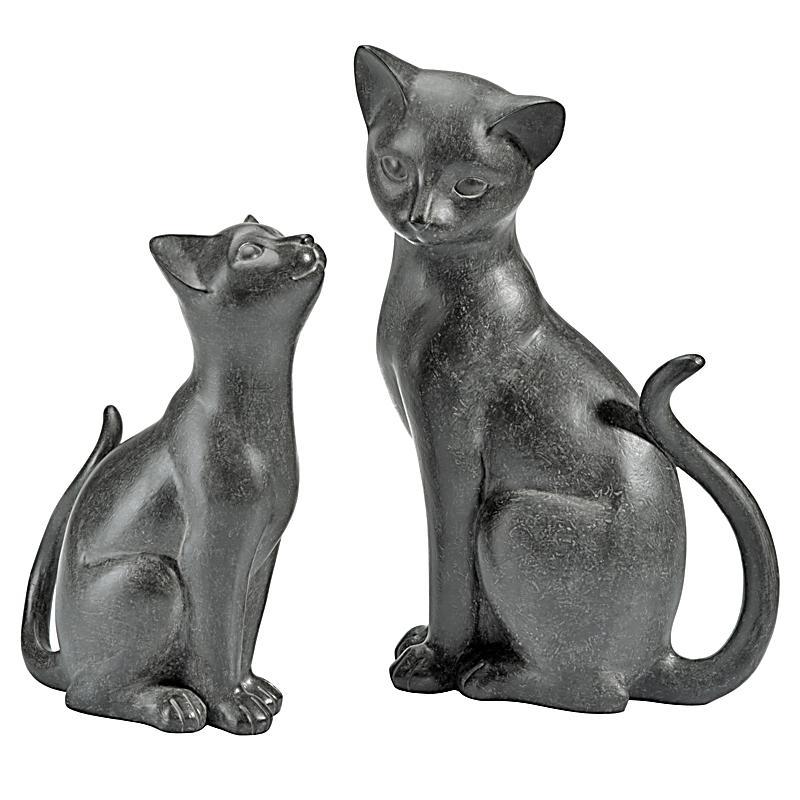 Deko katzen duett 2er set jetzt bei bestellen for Deko katzen gartendekorationen