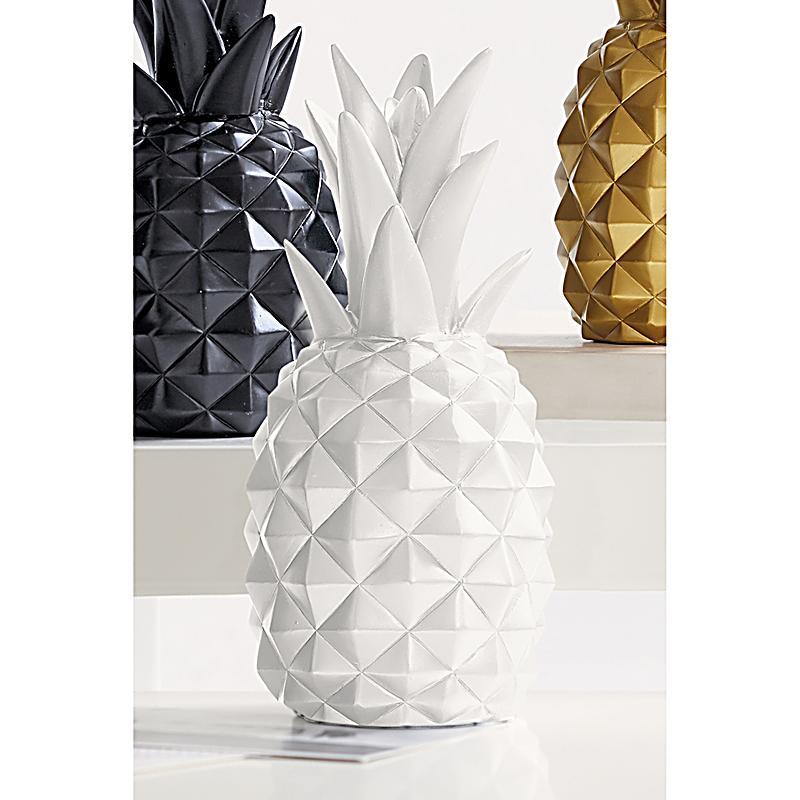 deko objekt ananas weiss jetzt bei bestellen. Black Bedroom Furniture Sets. Home Design Ideas