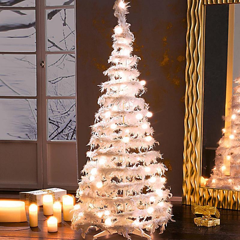 Deko objekt federtannenbaum klein jetzt bei - Beleuchteter tannenbaum kunststoff ...