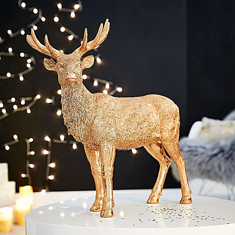 deko objekt goldener hirsch jetzt bei bestellen. Black Bedroom Furniture Sets. Home Design Ideas