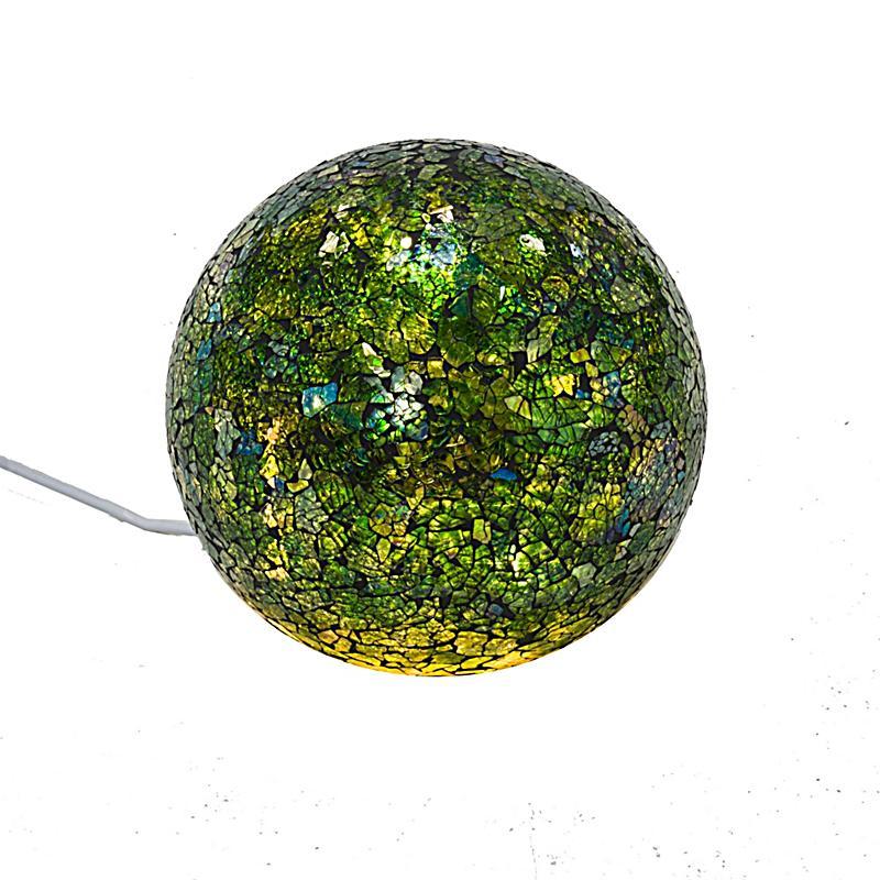 Deko objekt mosaik kugel gr n klein bestellen for Mosaik deko