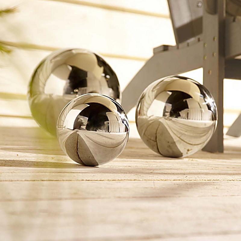 deko objekt silberne kugel 20cm jetzt bei. Black Bedroom Furniture Sets. Home Design Ideas