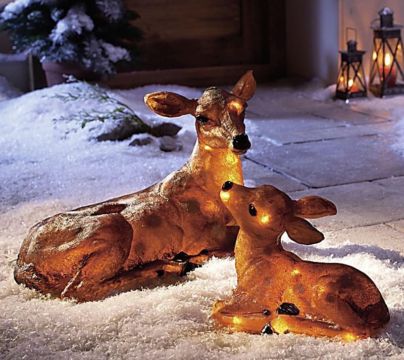 Deko reh kitz mit beleuchtung jetzt bei bestellen for Weihnachtsreh beleuchtet