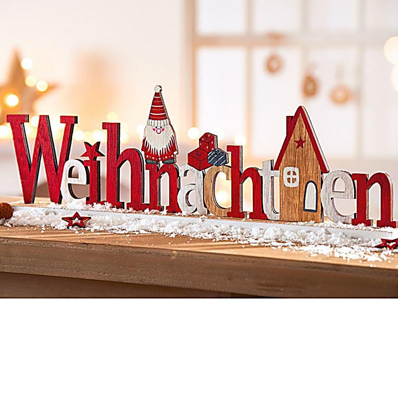 deko schriftzug weihnachten jetzt bei bestellen. Black Bedroom Furniture Sets. Home Design Ideas