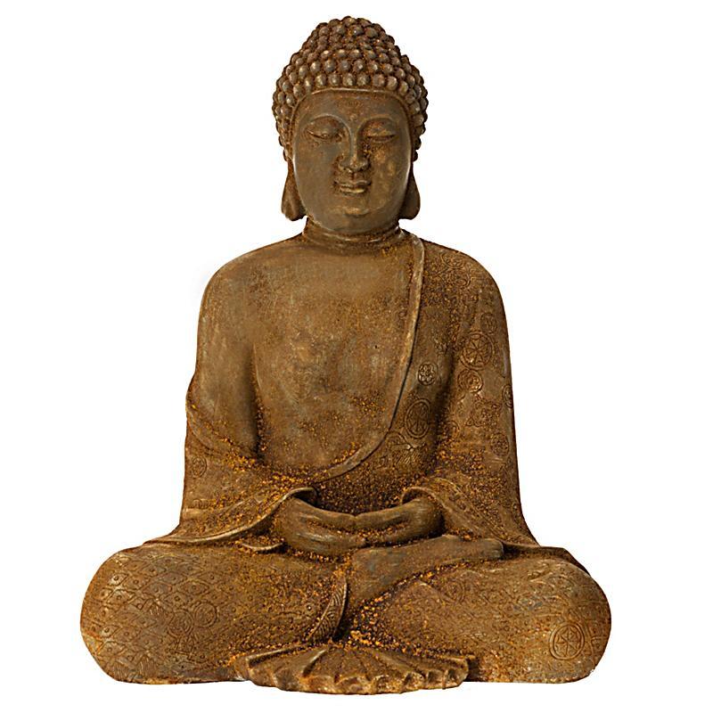 Dekofigur buddha rost jetzt bei bestellen for Buddha bestellen