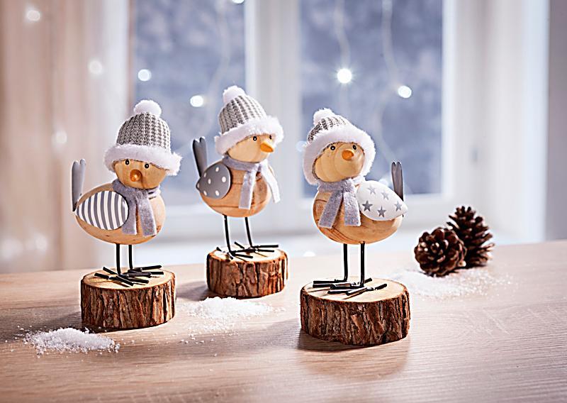 Deko Figuren dekofiguren wintervögel 3er set jetzt bei weltbild de bestellen