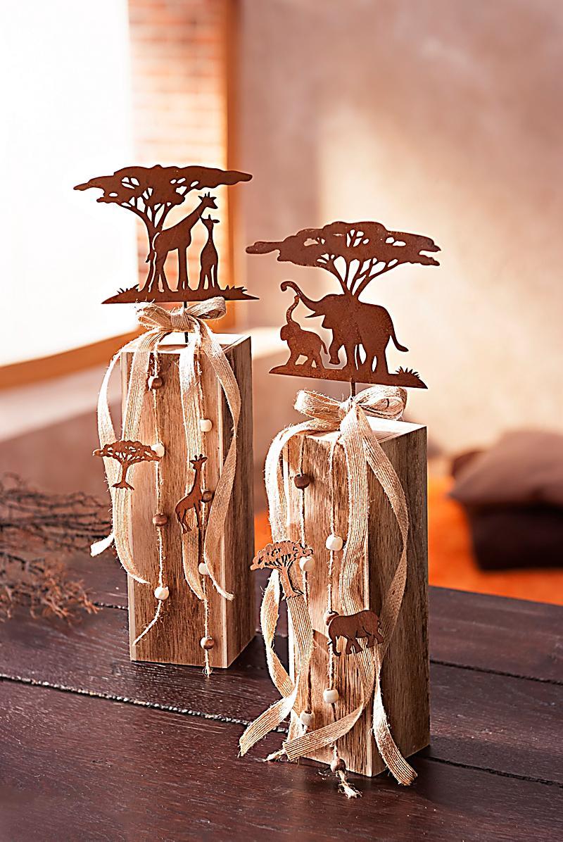 dekos ulen afrika 2er set jetzt bei bestellen. Black Bedroom Furniture Sets. Home Design Ideas