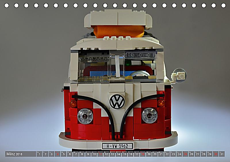 der lego vw bulli tischkalender 2018 din a5 quer. Black Bedroom Furniture Sets. Home Design Ideas
