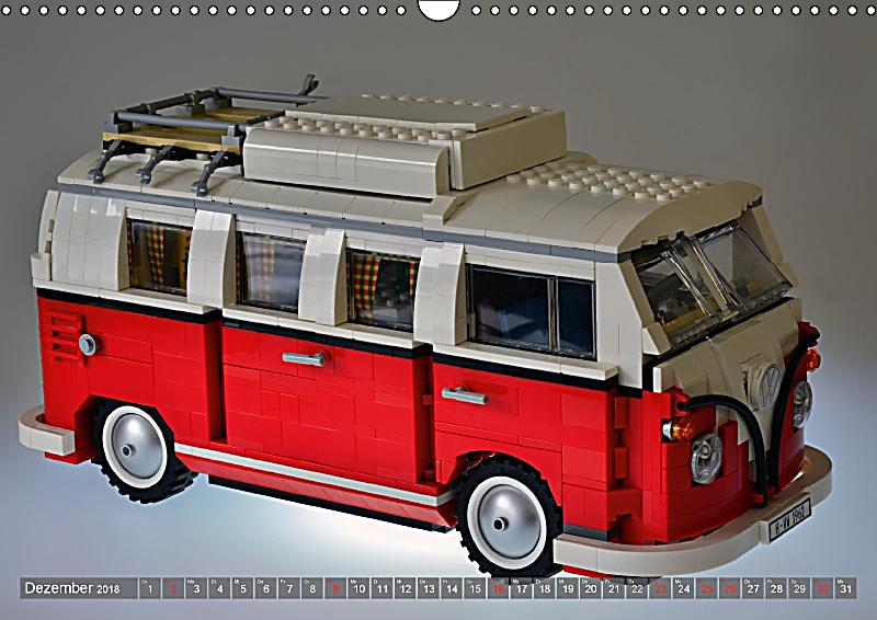 der lego vw bulli wandkalender 2018 din a3 quer kalender. Black Bedroom Furniture Sets. Home Design Ideas