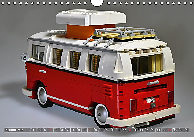 der lego vw bulli wandkalender 2018 din a4 quer kalender. Black Bedroom Furniture Sets. Home Design Ideas