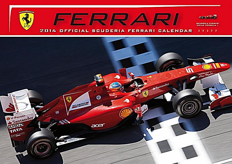 der offizielle ferrari formel 1 kalender 2014 kalender bestellen. Black Bedroom Furniture Sets. Home Design Ideas