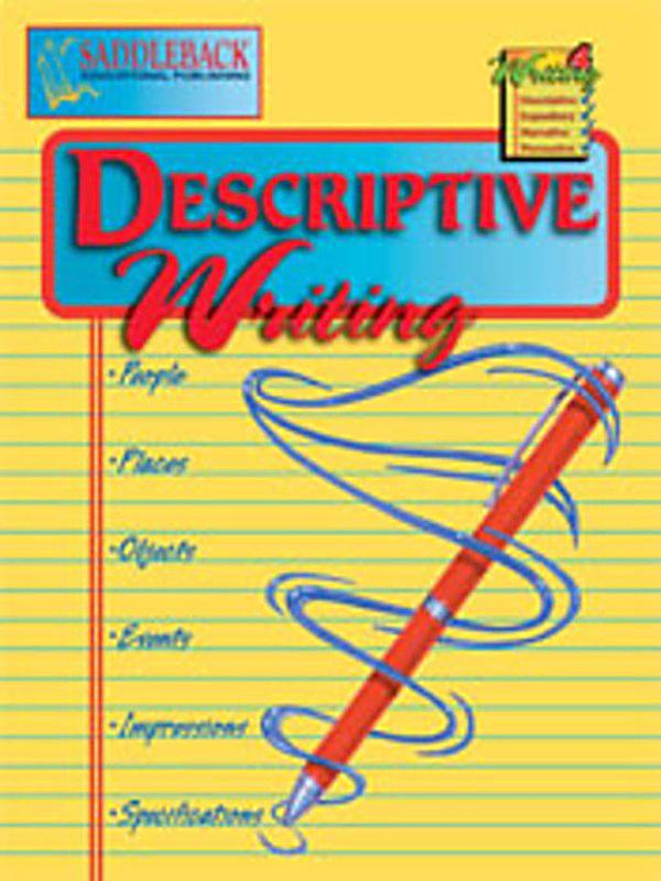 descriptive writing books Writing a book writing an writing a descriptive essay look at our samples of descriptive essays to understand how to write them on your own my room.