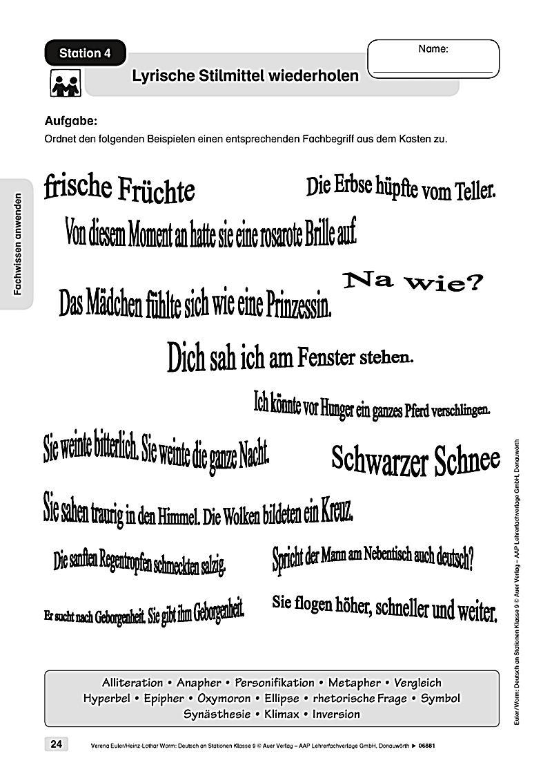 Deutsch an Stationen, Klasse 9 Buch portofrei bei Weltbild.de