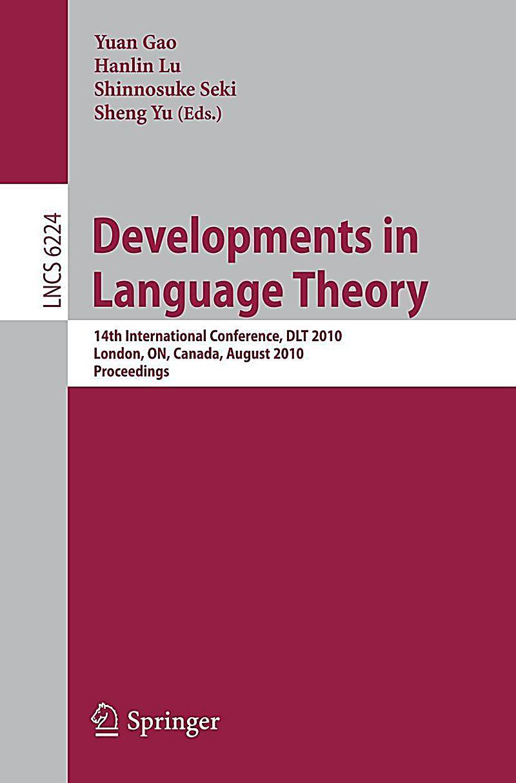 Developments in Language Theory Buch portofrei bei Weltbild.de