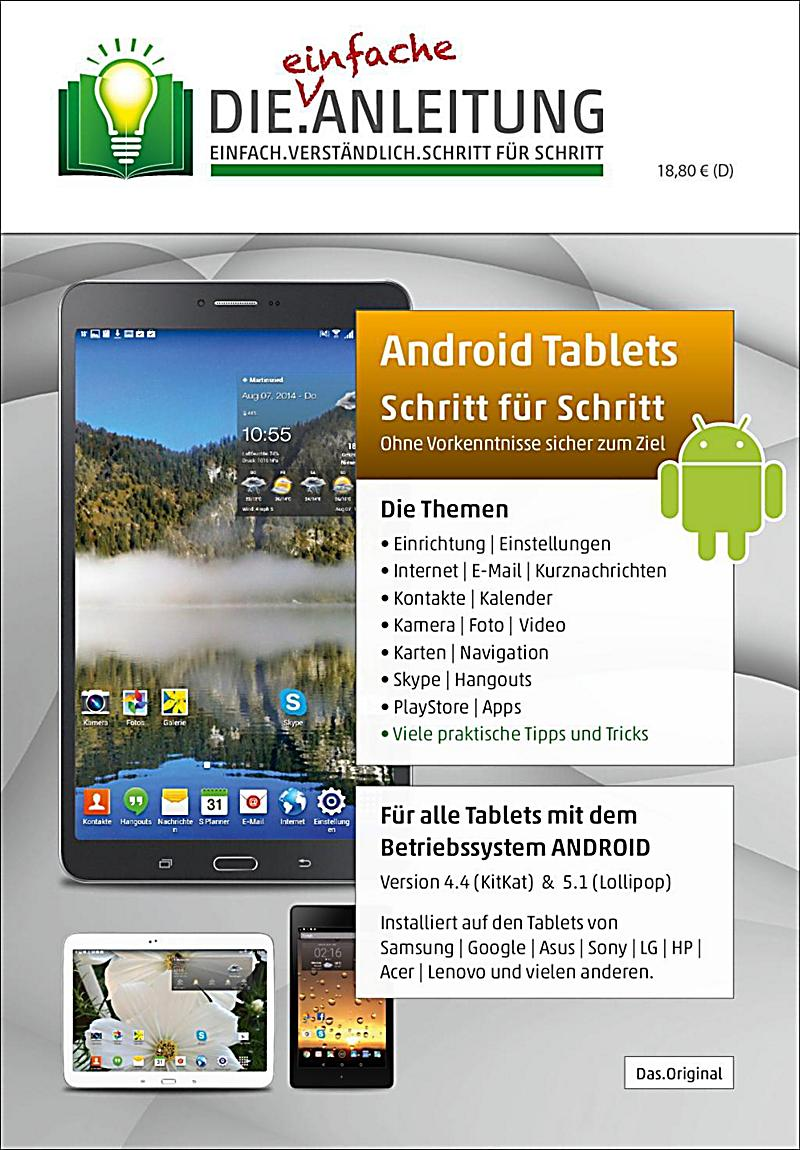 die anleitung android tablets schritt f r schritt buch portofrei. Black Bedroom Furniture Sets. Home Design Ideas