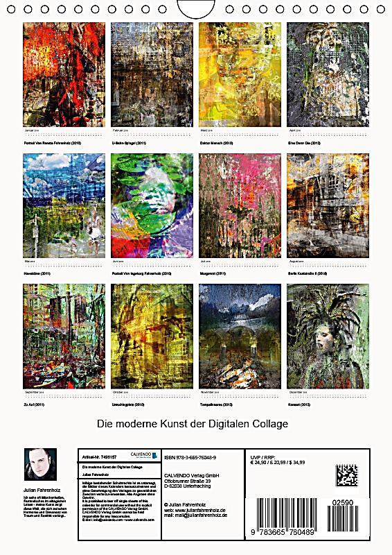 Die moderne kunst der digitalen collage wandkalender 2018 for Kunst der moderne