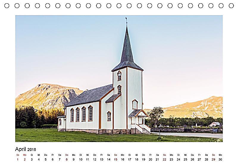 Die schönsten Kirchen der Lofoten Tischkalender 2018 DIN