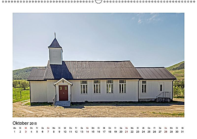 Die schönsten Kirchen der Lofoten Wandkalender 2018 DIN A2