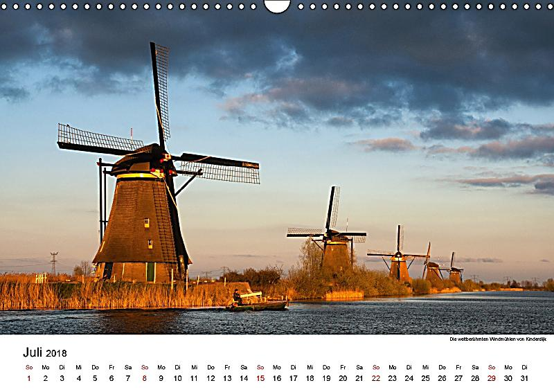 die sch nsten windm hlen in holland 2018 wandkalender 2018 din a3 quer kalender bestellen. Black Bedroom Furniture Sets. Home Design Ideas
