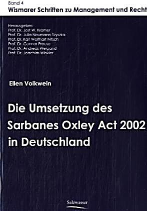 thesis on sox act 2002 Earnings management before and after the sarbanes  sox act on the relationship between earnings  the thesis will contain a number of five chapters excluding the.