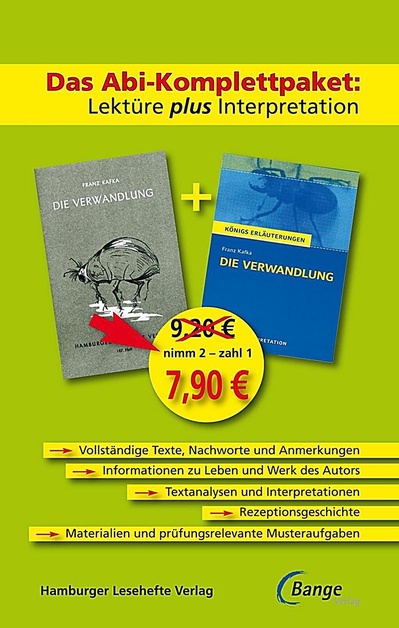 Die Verwandlung, Lektüre plus Interpretation Buch ...